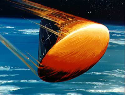 Apollo ballistic reentry heat shield