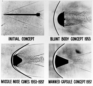 ballistic reentry heat shield test completed in the 1950s